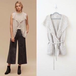 Aritzia Wilfred Free Fei Fei Wrap Sweater Vest